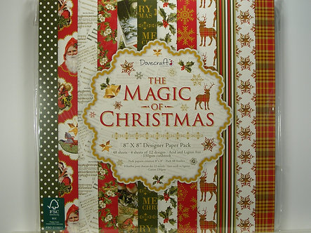 "Dovecraft - The Magic Of Christmas 8"" x 8"" Paper Pad"