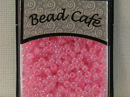 Bead Cafe - Pink 3mm Glass Seed Beads.
