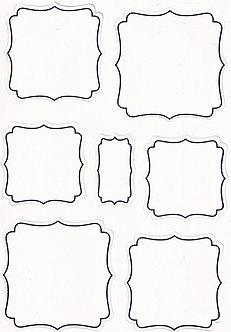 Kanban - White & Silver Blank Square Frames