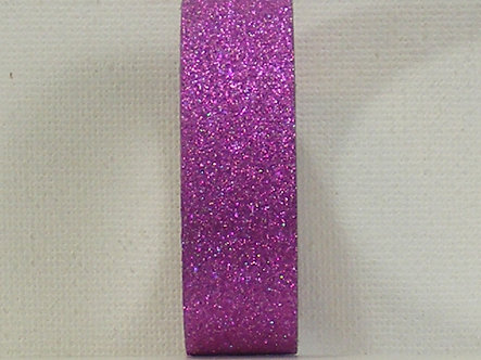 Craft Washi Tape - Deep Pink Glitter.