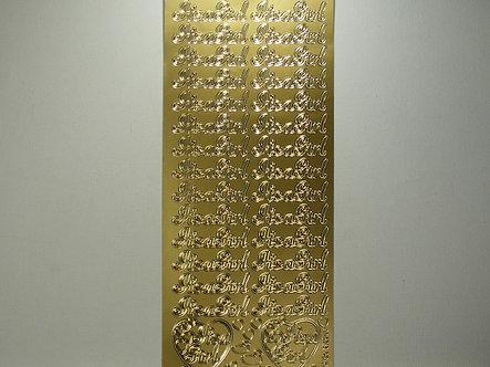Goldlabel - Peel Offs It's A Girl (Gold)