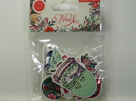 Craft Consortium - Noel - Wooden Shapes