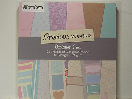 "Kanban - Precious Moments 8"" x 8""Designer Pad"