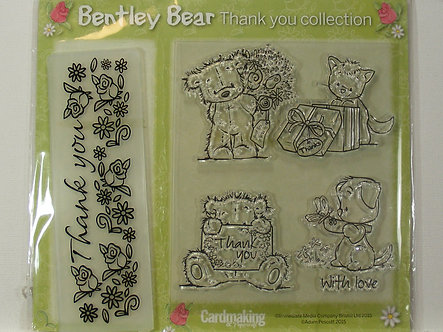 Bentley Bear Thank You Collection - Stamps & Embossing Folder
