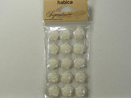 Habico - Signature Rose Stickers - White