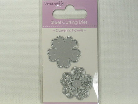 Dovecrafts - 2 Layering Flowers Steel Cutting Dies