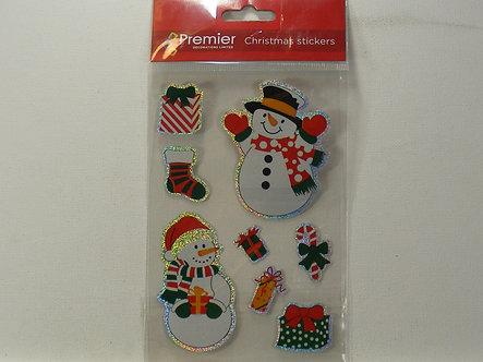 Premier Decorations - Holographic Stickers - Snowman