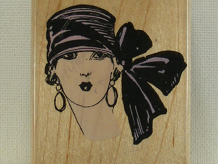 Hero Arts - Hat With Big Bow Rubber Stamp