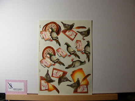 TBZ International - Carrier Pigeon Decoupage.