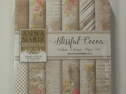 "Anna Marie Designs - Blissful Cocoa 6"" x 6"" Paper Pad."