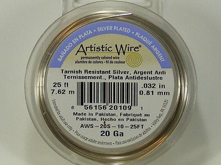 Beadalon - Artistic Wire - 20 Gauge Tranish Resistant Silver