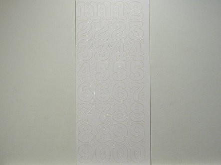 CraftCreations - Number Peel Offs (White)