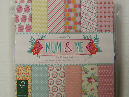 "Dovecraft - Mum & Me 6"" x 6"" Paper Pad (72 Sheets)"