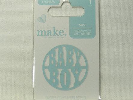 Cut & Make - Mini Baby Dies - Round Baby Boy