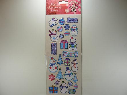 Merry Christmas Stickers - Ice.