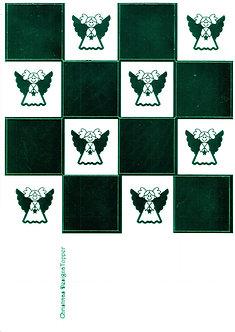 Christmas Designa Topper - Green Metallic Foiled Angels Sheet