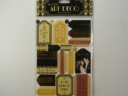 Docrafts Papermania - Art Deco Foiled Sentiments.
