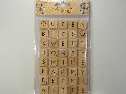 Dovecraft - Bee Happy Letter Tiles