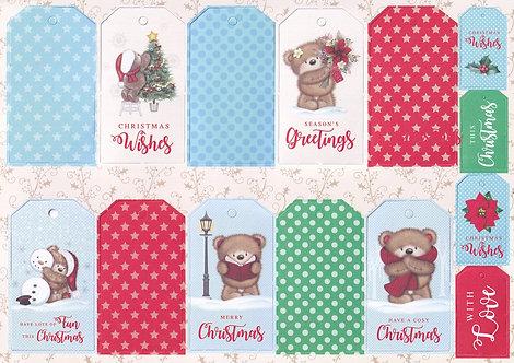 Kanban - Christmas Kanbears Tags Topper Sheet