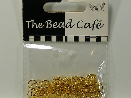 Bead Cafe - Gold Coloured Jump Rings (80PC)