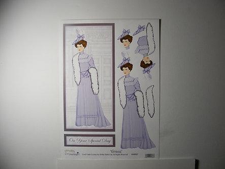 Hobby Habit Grace Decoupage Sheet.