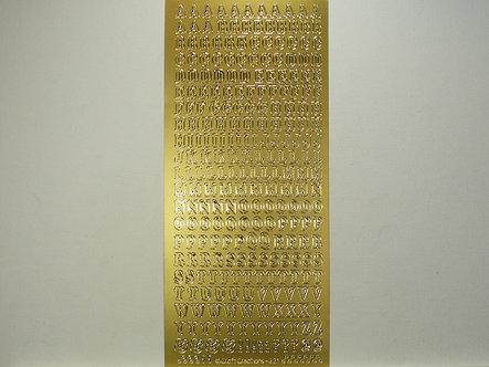 CraftCreations - Alphabet Peel Offs (Gold)