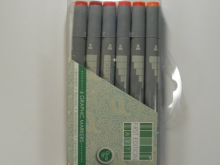 First Edition Graphic Markers - Reds
