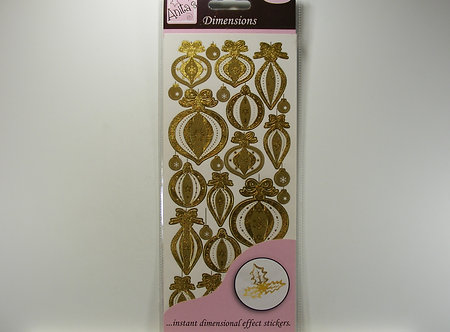 Docrafts - Anita's Metallic Dimensions Baubles (Gold)