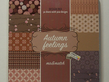 "Craft Sensations - Autumn Feelings 6"" x 6"" Paper Pad."