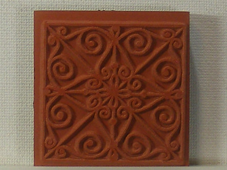Unbranded - Ornate Background Foam Mounted Rubber Stamp