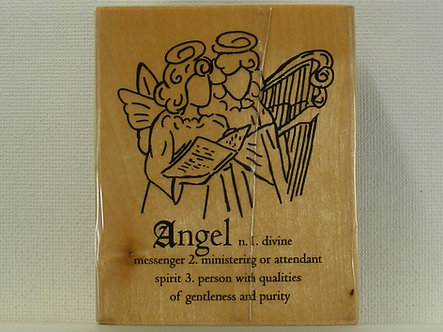 Anita's - Angel Wood Mounted Rubber Stamp