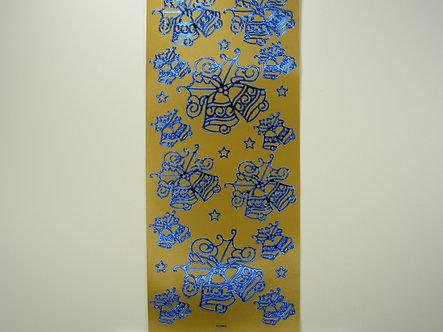 Christmas Peel Offs - Christmas Bells (Gold & Blue)