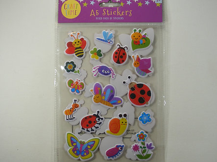 Craft Time - A5 Stickers MIxed Pack - Insects