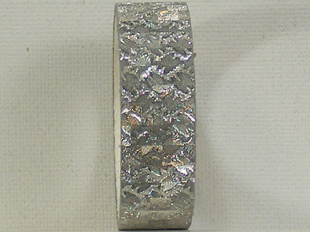 Craft Washi Tape - Silver Chequered Design.