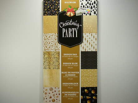 Craft Sensations - Christmas Party Paper Pad.