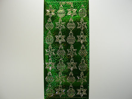 XP - Christmas Holographic Peel Off Baubles (Green)