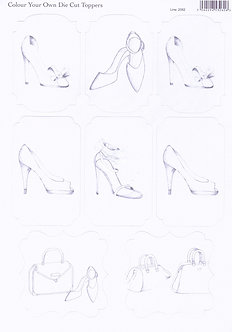 Colour Your Own Topper Sheet - Shoes & Bags