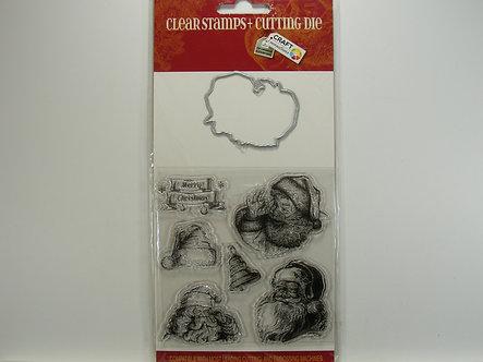 Craft Sensations - Clears Stamps & Die - Santa