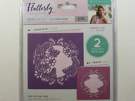 Crafters Companion - Flutterby Collection - Fluttering Frame Dies