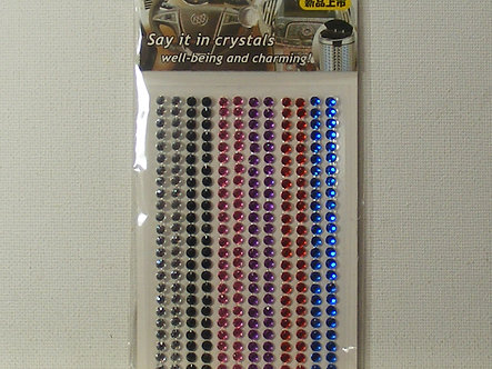 Say It In Crystals - Coloured Gems 3mm.