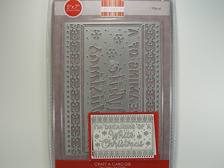 """First Edition - Craft A Card 5"""" x 7"""" White Christmas Die."""
