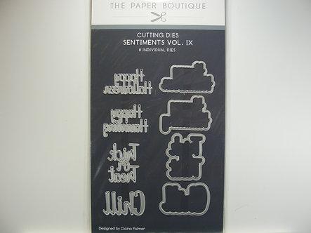 Paper Boutique - Sentiments Vol. IX Dies (8 Pieces)