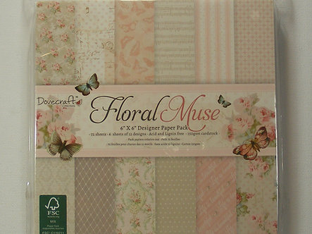 """Dovecraft - Floral Muse 6"""" x 6"""" Paper Pad"""
