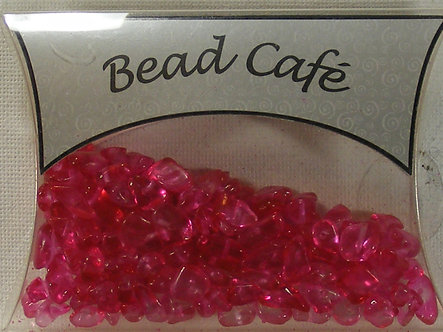 Bead Cafe - Hot Pink Glass Bead Chips (40gms)