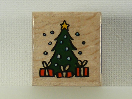 Docrafts - Whispers Christmas Tree Wood Mounted Rubber Stamp