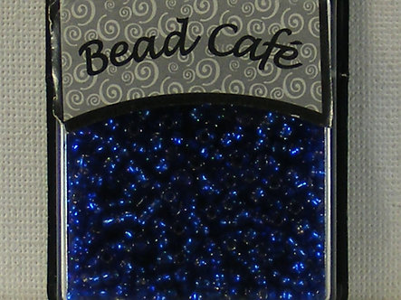 Bead Cafe - Royal Blue 3mm Glass Seed Beads.