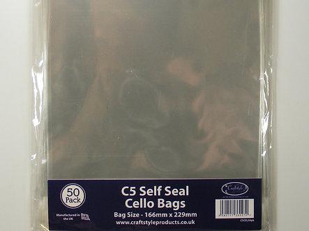 Craftstyle - C5 Self Seal Cello Bags x 50