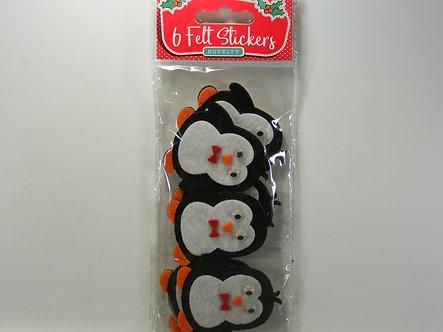Merry Christmas - Penguin Novelty Felt Stickers
