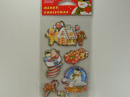 Handwork Stickers - Merry Christmas Gingerbread Stickers
