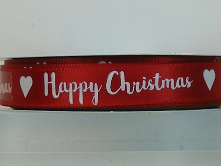 Dovecraft - Creative Ribbon - Happy Christmas Grosgrain